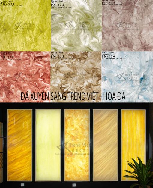 Bảng tổng hợp mẫu đá xuyên sáng hoa đá WEB