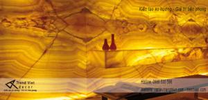Ốp tường với đá xuyên sáng nhân tạo