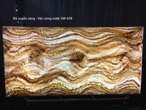 Artificial backlight stone - Đá xuyên sáng cao cấp - vân sóng nước SW-678