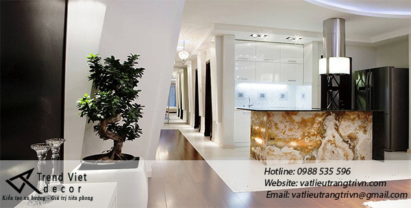 Onyx stone kiến tạo nên vẻ đẹp nội thất