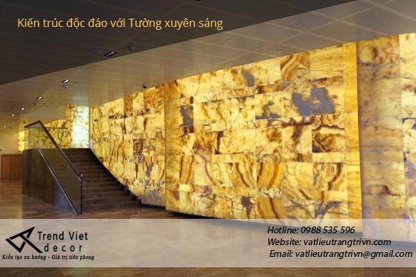 Đá xuyên sáng onyx đẳng cấp tại Đà Nẵng