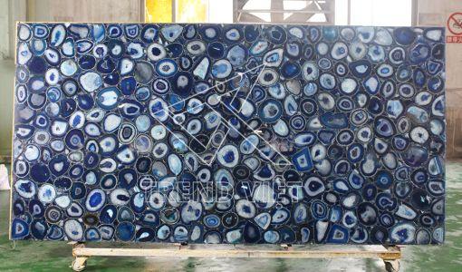 Đá Agate màu xanh dương