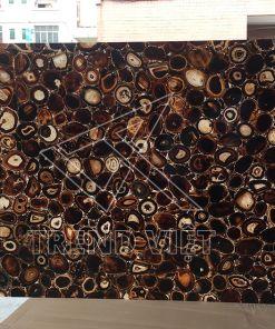 Đá Agate xuyên sáng - màu coffee