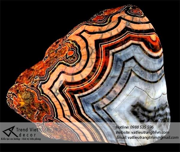 Đá Agate mang vẻ đẹp riêng có từ thiên nhiên