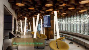 Thiết kế ứng dụng cột tròn đá xuyên sáng