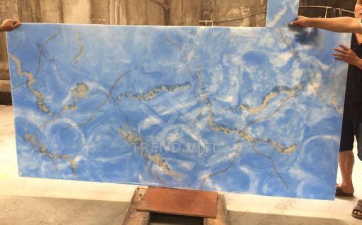 Đá xuyên sáng Dung nham màu sắc Blue 04