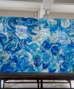 Đá xuyên sáng dung nham màu sắc Blue 02