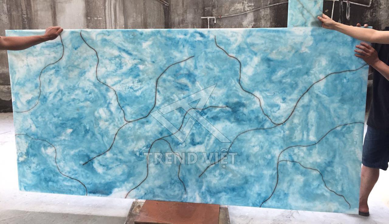 Đá xuyên sáng dung nham màu sắc Blue 03