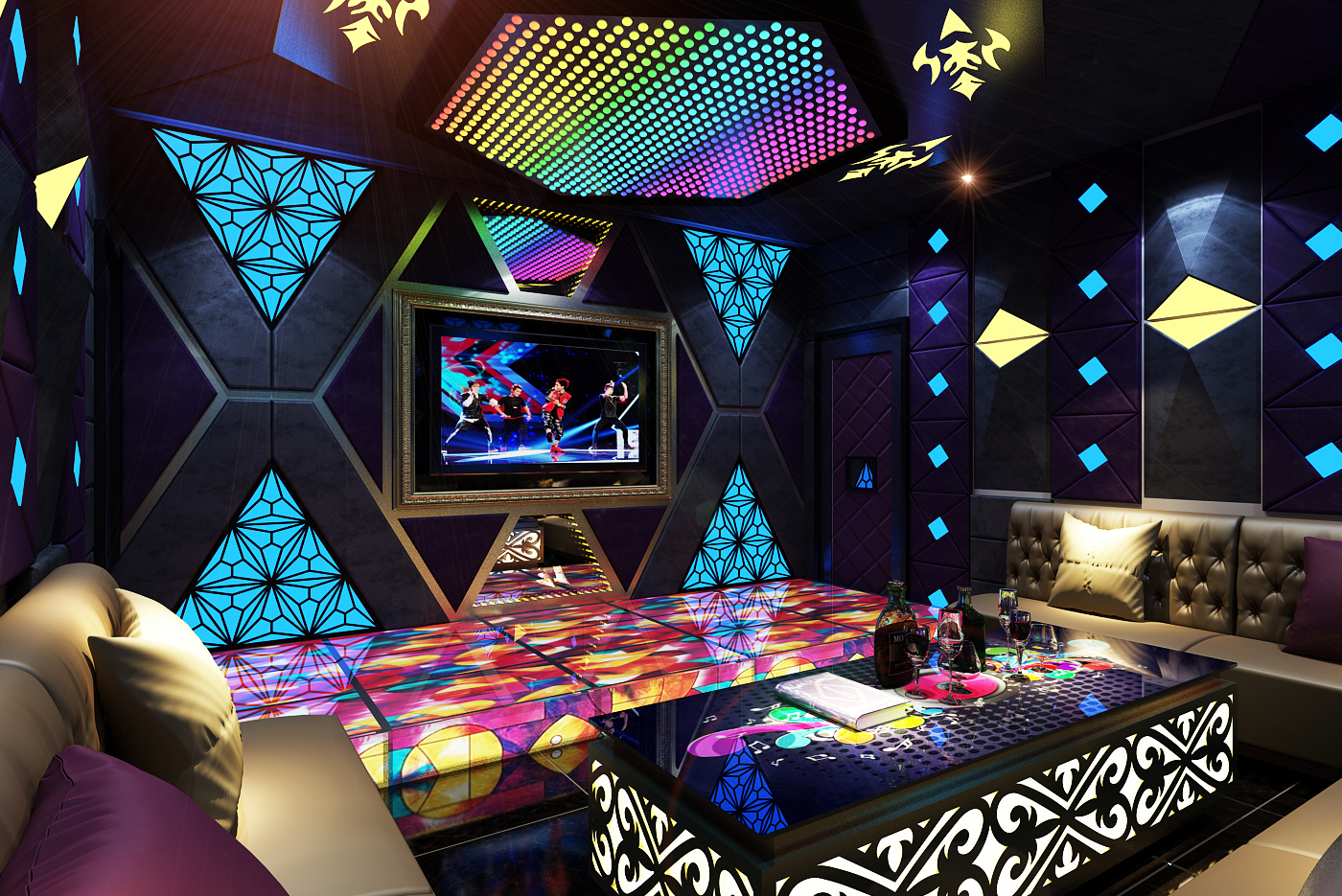 Vật liệu trang trí phòng hát karaoke 2